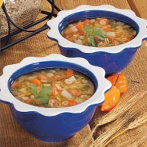 Mexican Bean Barley Soup