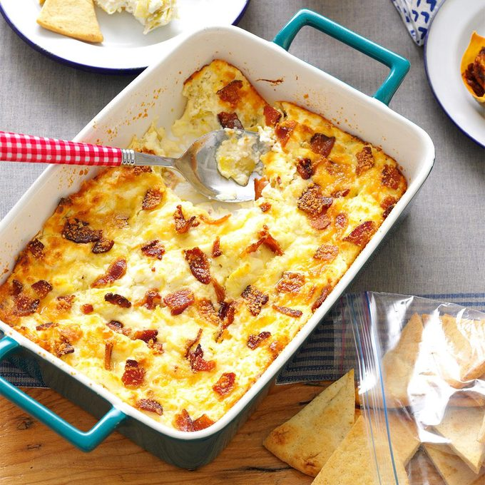 Lemony Bacon-Artichoke Dip