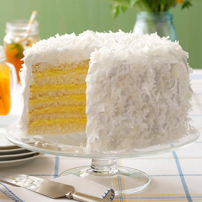Six-Layer Coconut Cake with Lemon Filling