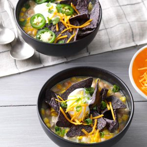 White Bean & Chicken Enchilada Soup