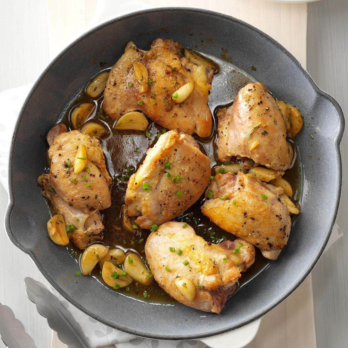 Chicken & Garlic with Fresh Herbs