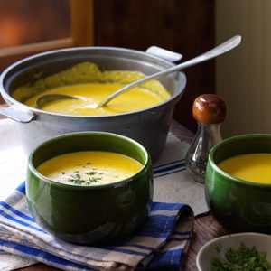 Cheddar, Corn & Potato Chowder