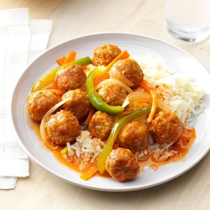 Dressed-Up Meatballs