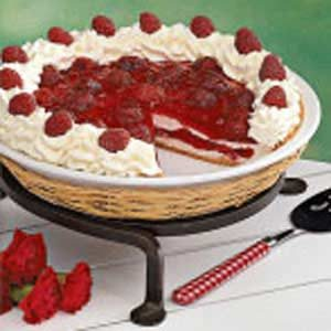 Contest-Winning Raspberry Ribbon Pie