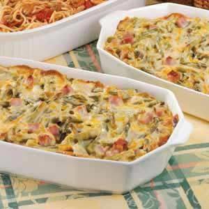 Ham and Asparagus Spaghetti Casserole