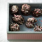 Triple Chocolate Candy Cane Cookies