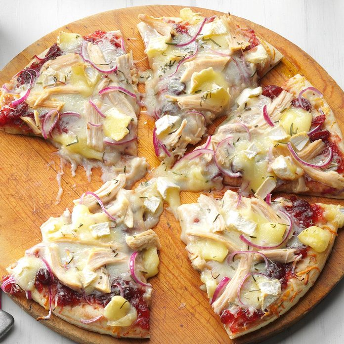 Cranberry, Brie & Turkey Pizza