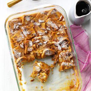 Overnight Pumpkin French Toast Casserole