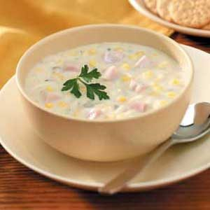 Slow-Cooked Corn Chowder
