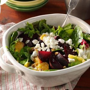 Roasted Beet Salad with Orange Vinaigrette