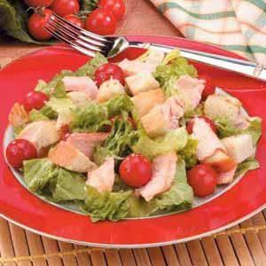 Grilled Salmon Caesar Salad