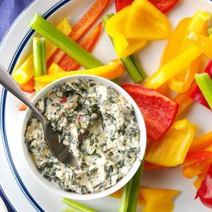 Sun-Dried Tomato Spinach-Artichoke Dip