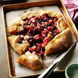 Blueberry Rhubarb Country Tart