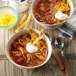Slow-Cooked Chicken Enchilada Soup