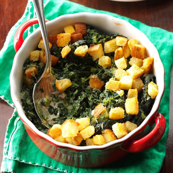 Crunchy Spinach Casserole