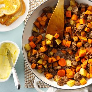 Hearty Sausage & Sweet Potatoes
