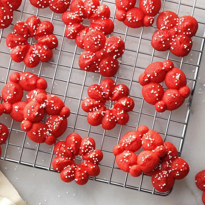 Minnesota: Red Velvet Spritz Cookies