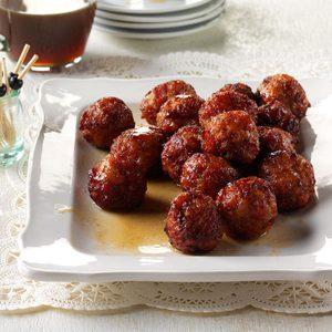 Bourbon Ham Balls