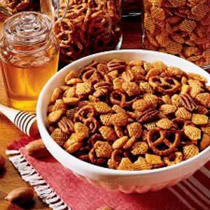 Honey-Glazed Crispy Snack Mix