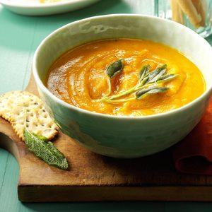 Creamy Butternut Squash & Sage Soup