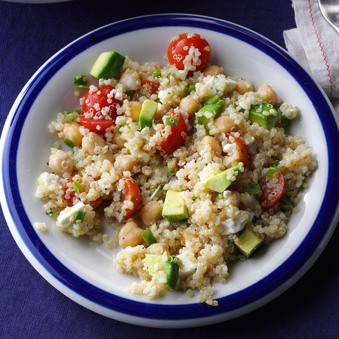 Avocado & Garbanzo Bean Quinoa Salad
