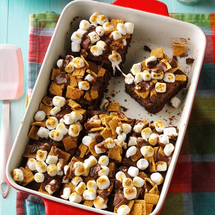 Fudgy S'mores Brownies