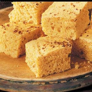 Spicy Corn Bread Squares
