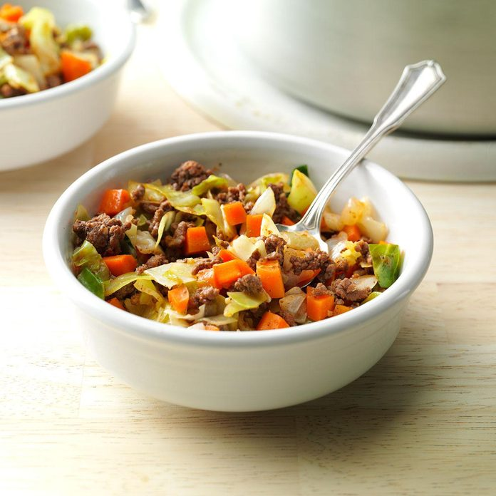 Day 5: Saucy Beef & Cabbage Supper