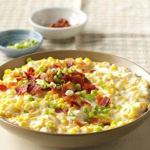 Slow-Cooker Creamed Corn with Bacon