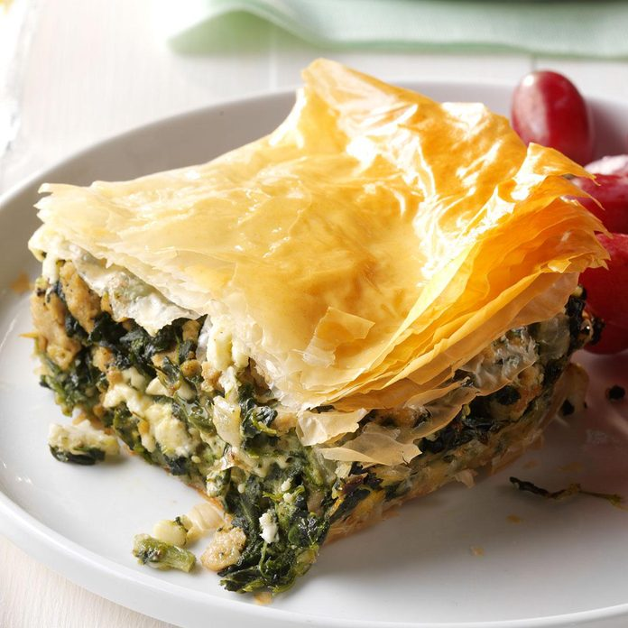 Spinach & Chicken Phyllo Pie