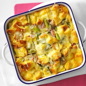 Asparagus and Ham Strata
