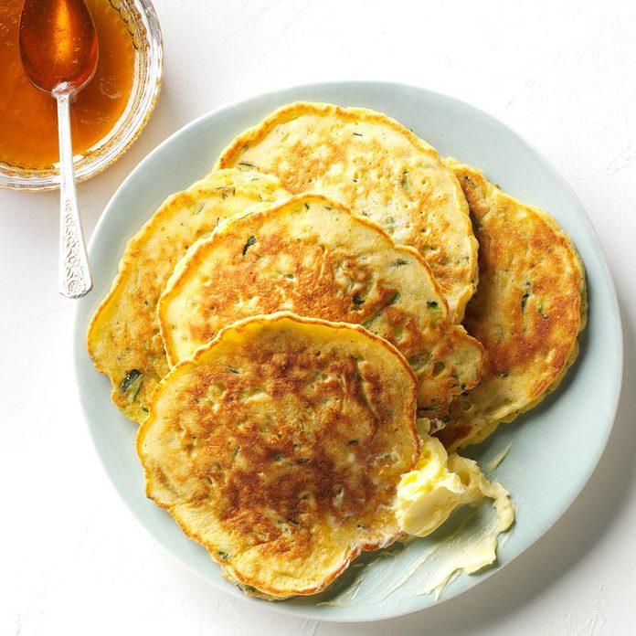 Zucchini-Cornmeal Pancakes