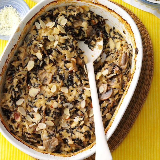 Wild Rice Mushroom Bake
