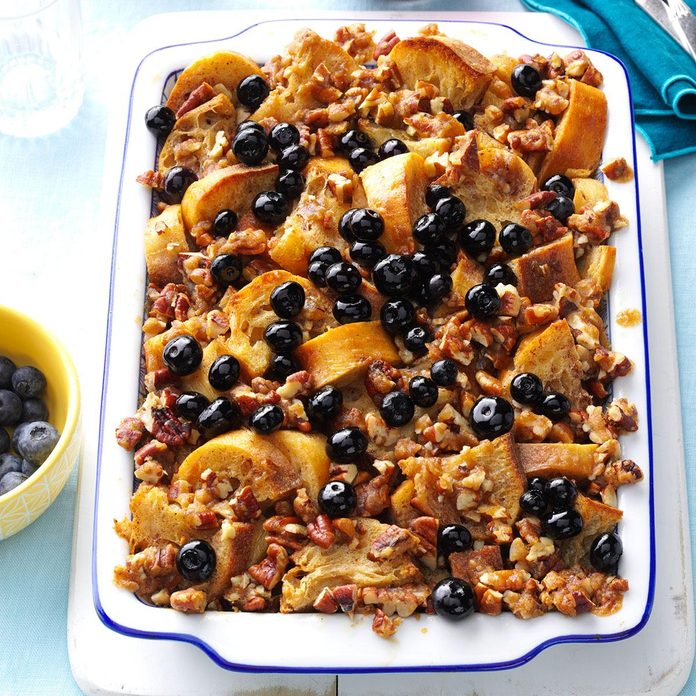 Make-Ahead Blueberry French Toast Casserole
