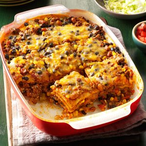 Double-Duty Layered Enchilada Casserole