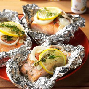 Lemon-Dill Salmon Packets