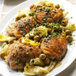 Double-Duty Chicken with Olives & Artichokes