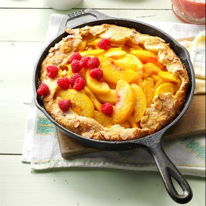 Cast-Iron Peach Crostata