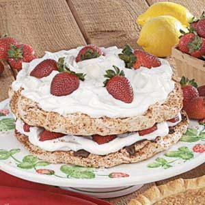 Strawberry Hazelnut Torte