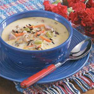Cheesy Ham 'n' Rice Soup