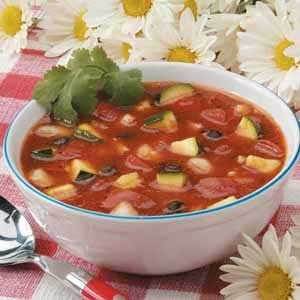 Black Bean Zucchini Gazpacho