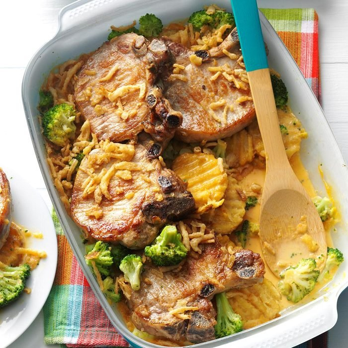 March: Baked Chops and Cottage Fries