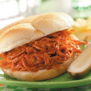 Shredded Barbecued Turkey Sandwiches
