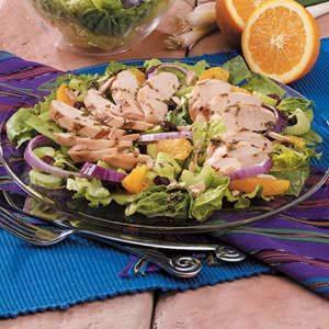 Orange Grilled Chicken Green Salad