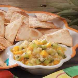 Fruit Salsa with Ginger Chips