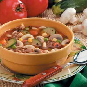 Hearty Vegetable Hamburger Soup