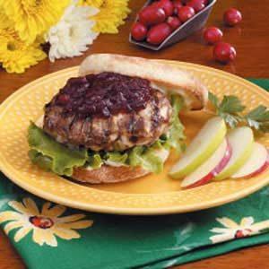 Cranberry Turkey Burgers
