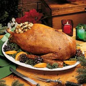Goose with Apple-Prune Stuffing