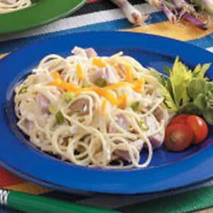 Ham Spaghetti Skillet
