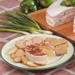 Brie with Pear Topping